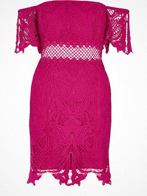 River Island River Island Womens Petite Pink lace bardot dress