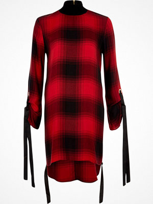 River Island River Island Womens Red check high neck swing dress