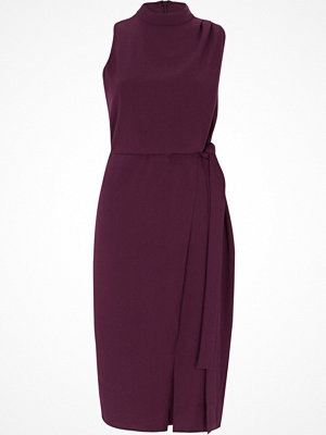 River Island Dark Purple high neck sleeveless wrap dress