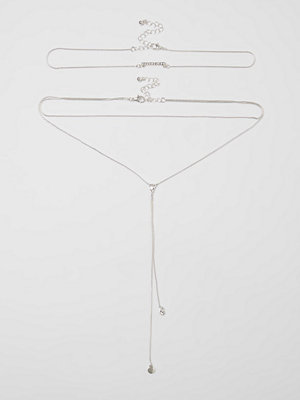River Island halsband River Island Womens Silver tone layered plunge choker necklace