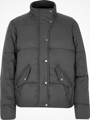 River Island River Island Womens Grey dogtooth check puffer jacket