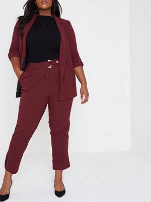 River Island vinröda byxor River Island Womens Plus dark Red tapeRed trousers