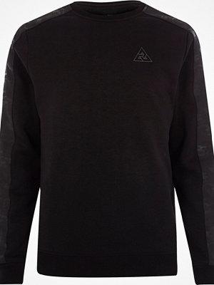 Tröjor & cardigans - River Island Black camo trim muscle fit sweatshirt