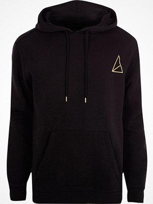 Street & luvtröjor - River Island River Island Mens Black Golden Equation hoodie