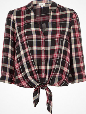 River Island River Island Womens Red check tie front shirt