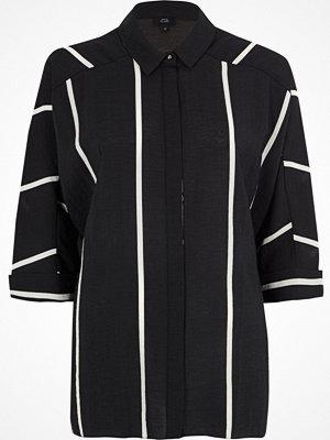 River Island River Island Womens Black stripe oversized shirt