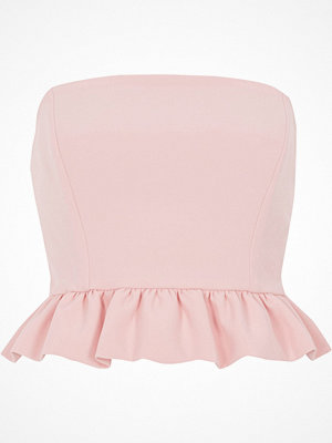 River Island River Island Womens Pink frill bandeau crop top