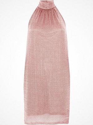River Island River Island Womens Rose Gold halter neck knit mini dress