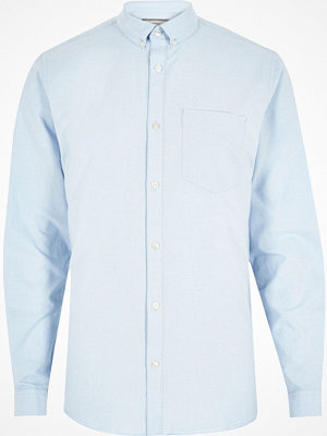 Skjortor - River Island Big and Tall light Blue long sleeve shirt