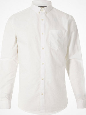 Skjortor - River Island Big and Tall White long sleeve oxford shirt