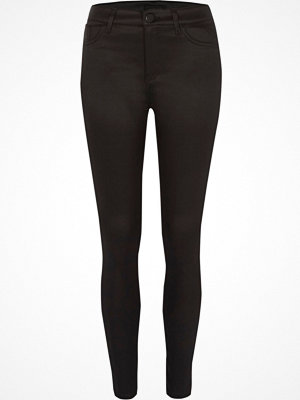 River Island Black Amelie coated super skinny jeans