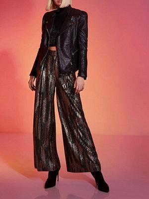 River Island Black RI Studio puff sleeve leather jacket