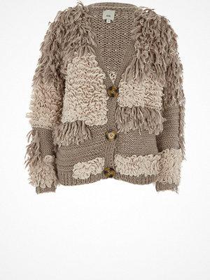 Cardigans - River Island River Island Womens Cream loop stitch oversized chunky cardigan