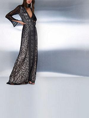 River Island Black embellished choker neck maxi dress