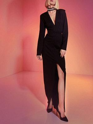 River Island Black RI Studio embellished choker maxi dress