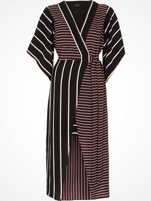 River Island Red mixed stripe kimono sleeve midi dress