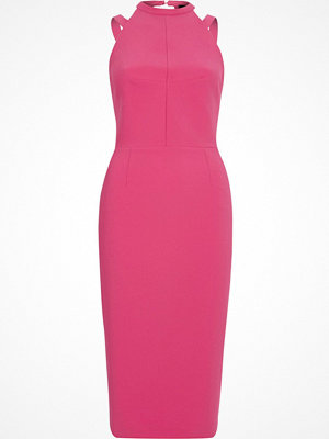 River Island Pink strappy bow back bodycon dress