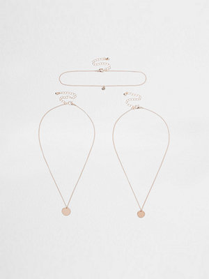 River Island halsband River Island Womens Rose Gold tone circle layer necklace set
