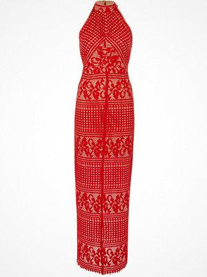 River Island Red lace sleeveless maxi dress