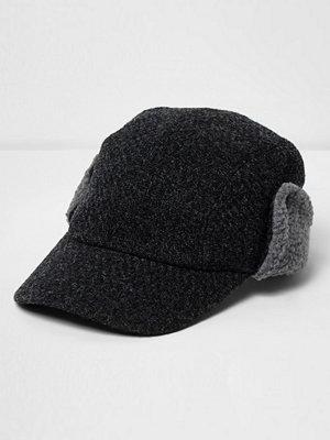 Mössor - River Island Grey deerstalker baseball cap