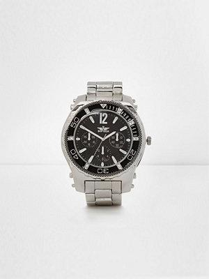 Klockor - River Island Silver tone chain link bezel watch