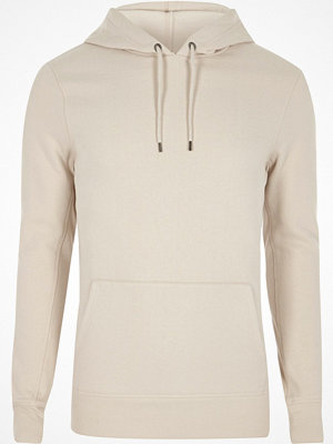 Street & luvtröjor - River Island River Island Mens Stone muscle fit hoodie