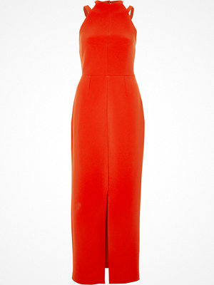 River Island Red bow back sleeveless bodycon dress