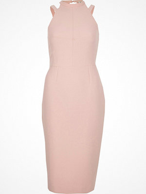 River Island Light Pink bow back sleeveless bodycon dress