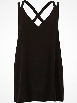 River Island River Island Womens Black double strap cross back vest