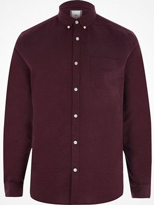 Skjortor - River Island Purple long sleeve Oxford shirt