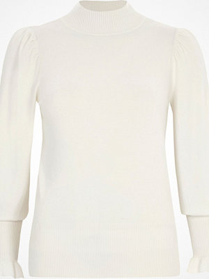 River Island River Island Womens Cream puff sleeve high neck jumper