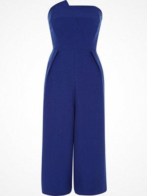 Jumpsuits & playsuits - River Island River Island Womens Cobalt Blue bandeau culotte jumpsuit