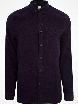 Skjortor - River Island River Island Mens Purple grindle long sleeve casual shirt
