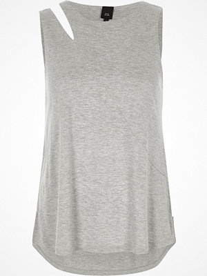 River Island Light Grey split shoulder vest