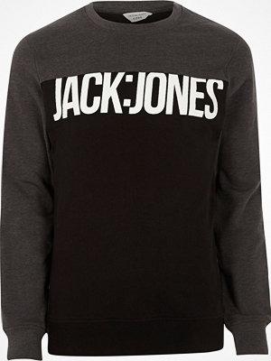 Tröjor & cardigans - Jack & Jones Grey Core blocked sweatshirt