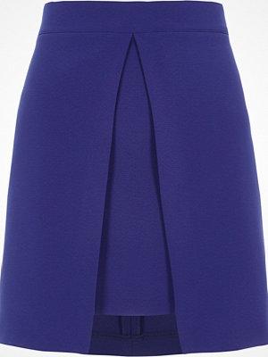 River Island Bright Blue split panel A line mini skirt