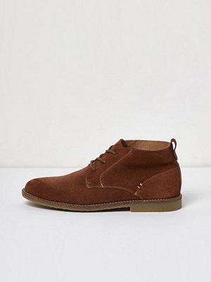 River Island Tan brown suede desert boots