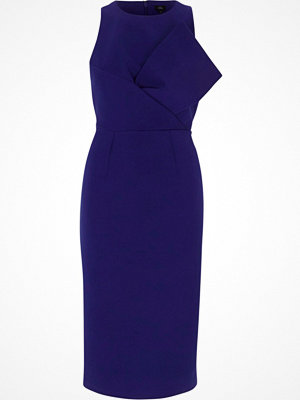 River Island Blue bow front sleeveless bodycon midi dress