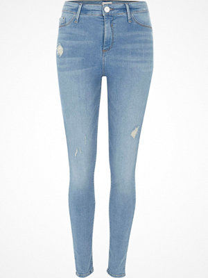 River Island Light Blue Molly distressed jeggings