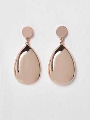 River Island örhängen Rose Gold tone teardrop earrings