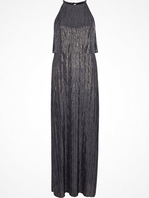River Island Silver pleated layered sleeveless maxi dress