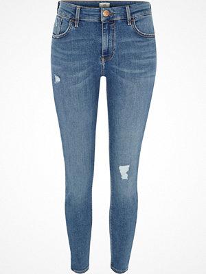 River Island Mid Blue Amelie super skinny jeans