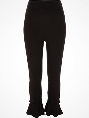 River Island Black flare hem leggings