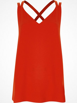 River Island Red double strap cross back vest