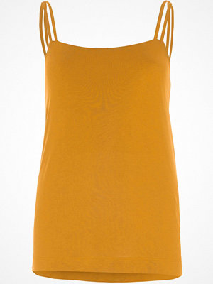 River Island Mustard Yellow double strap cami top