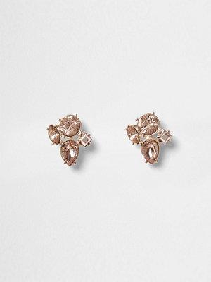 River Island örhängen Rose Gold tone jewel stud earrings
