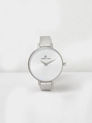 Klockor - River Island Silver tone Abbott Lyon leather strap watch