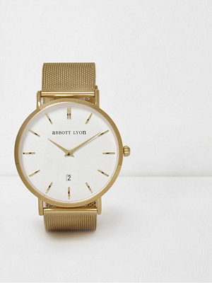 River Island Gold plated mesh Abbott Lyon watch