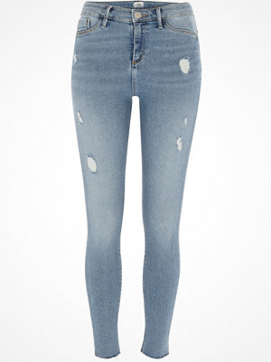 River Island Mid Blue ripped Molly jeggings