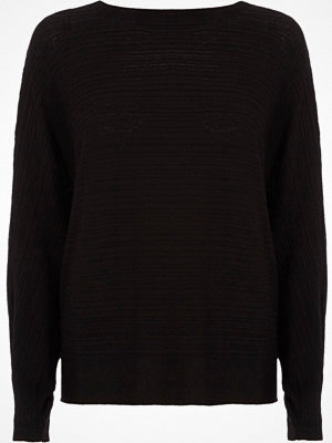 River Island Black ribbed tie back knit jumper